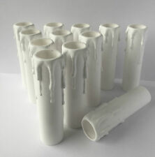 100mm x 23mm Candle Drip Lampholder Cover White Thermoplastic Packs of 4 to 12