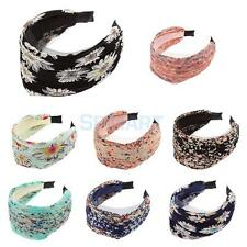 Girls Beautiful Wide Lace Headband Hair Band Accessories Flower Alice Band Party