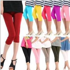 Women's Sexy Seamless Leggings Yoga Stretch Skinny Cropped Pants Candy Color