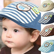 Cute Baby Infant Boy Girl Stripes Baseball Cap Summer Peaked Beret Hat Casquette