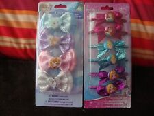DISNEY FROZEN 4PC HAIR CLIPS OR PRINCESS 6PC PONY TAIL HOLDERS~NEW IN PACKAGES
