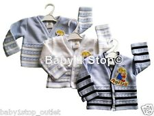 Baby Boys Cardigan Choice of Colours Superb Quality 0-3 3-6 6-9 Months