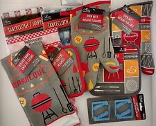 BBQ PICNIC LINEN, SELECT: Towels, Oven Mitts, Pot Holders, Table Cloths & Clamps