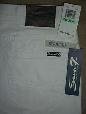 SEVEN 7 Straight White Denim Jeans Mens Sizes 30 32 34 36 38 40 New $64