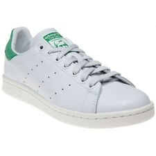 New Mens adidas White Stan Smith Leather Trainers Court Lace Up