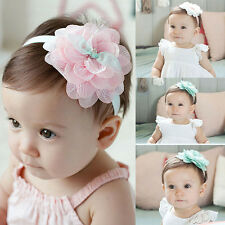 Cute Kids Baby Girl Toddler Lace Flower Headband Hair Band Headwear Accessory PE