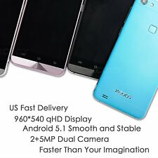 """XGODY X15S 5"""" qHD Unlocked 3G Android 5.1 Cell Phone Quad Core 3G Smartphone GPS"""