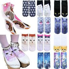 1 Pair Fashion Mens Womens 3D Printed Animals Casual Low Cut Ankle Cotton Socks