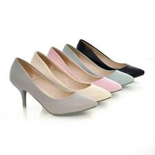 Office Women's Pointed Toes Synthetic Leather High Heels Pumps Shoes All Size