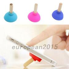 Sucker Toilet Shape Wood Plunger Holder FOR Cell Phone iPhone iPod Stand New