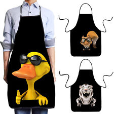 Novelty Waterproof 3D Cartoon Animal Print Kitchen Cooking BBQ Funny Aprons Gift