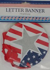 PATRIOTIC AMERICAN 'HAPPY 4TH of JULY' BANNERS Banner  SELECT: Red or BlueTheme