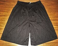 Augusta Sportswear, Black, Moisture Mgt. Soccer / Athletic Shorts - Adult M