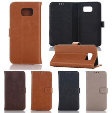 Luxury Flip Wallet Folder Folio PU Leather Stand Case Cover For Smartphone