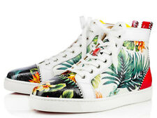 Auth Christian Louboutin Mens Louis Flat HAWAII Calf Leather Classic Sneakers