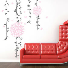 Vines Flowers Kid's Bedroom Princess Room Removable Wall Decor Decal Stickers