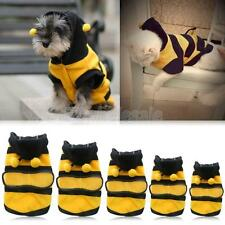 Pet Puppy Coat Apparel Outfit Fleece Clothes Dog Cat Hoodie Fancy Bee Costume