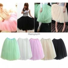 New HOT Women Princess Fairy Style 5 layered Tulle Dress Bouffant Skirt 4Colors