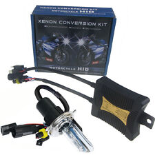 55W HID Xenon H4 Hi/Lo Motorcycle Conversion Kit Headlight Bulb 5K 6K 8K 10K 12K