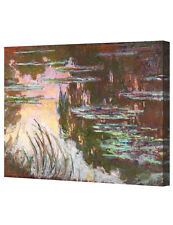 DecorArts Water Lilies Setting Sun by Monet Giclee Print Stretched Canvas 16x20