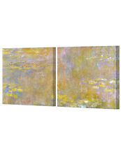DecorArts Water Lilies 1916 Giclee Print Dual paintings Canvas Gallery Wrapped