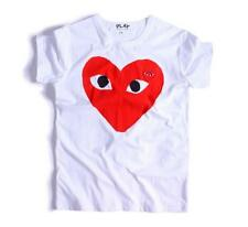 Women's Men's Comme Des Garcons CDG Play Big red Heart Tee T-shirts white/black