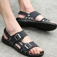 ​Men's Casual  Leather Sandals Slippers Fashion Summer Beach Sandals Home