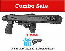 R10/22 PTK Fab Defense Tactical STOCK for RUGER 10/22 w/ FREE Angled Handle
