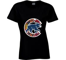 Chicago Cubs T Shirt Womens Fit Chicago Teams Bulls Bears Blackhawks Gift Tee