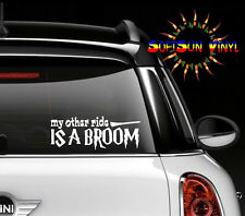 My Other Ride is a Broom Decal Car Truck Window Die Cut pagan witch COLORS
