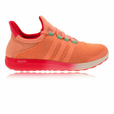 Adidas CC Sonic Womens Pink Orange Cushioned Running Sports Shoes Trainers