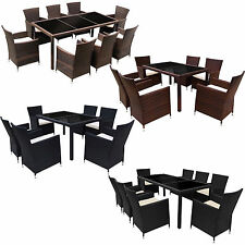 RATTAN GARDEN FURNITURE DINING TABLE WITH 6 & 8 CHAIRS DINING SET OUTDOOR PATIO
