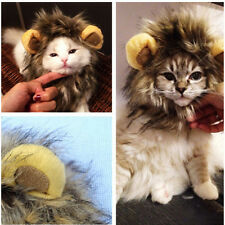 Pet Costume Lion Mane Wig for Cat Dog Halloween Clothes Dress up with Ears EF