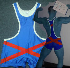 MensTights Low Cut Trunk Cross Wrestling Singlet Gym Outfit Weight Lifting Suit