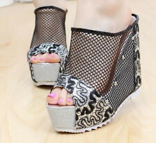 Womens Sandals Summer Platform Wedge Heel Mules Fashion 2016 New Sport New SHoes