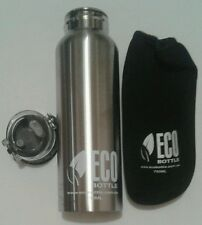 2x ECO Bottle 750ml Stainless Steel Sports Water Bottle BPA FREE + cover