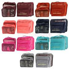 6Pcs Women Clothes Storage Bags Packing Cube Travel Luggage Organizer Pouch
