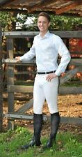 TOP SALE BUSSE Men's riding pants LIVINGSTON Knee patch breeches Size 52 white