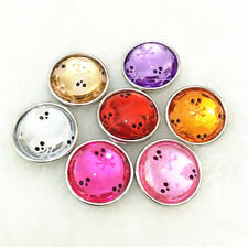 6pcs18mm yellow Skull Snaps Chunk Charm Button FIT For NOOSA Leather Bracelets