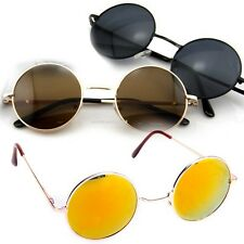 Unisex Vintage Retro Women Men Glasses Vintage Round Mirror Lens Sunglasses A+