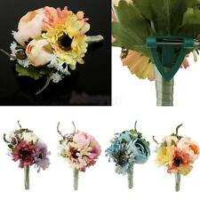 Wedding Bridal Groom Boutonniere Corsage Flower Brooch Pin Choose Colors