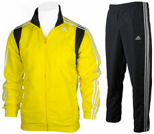 Mens Adidas Full Zip Tracksuit Woven Jog Suit TS Basic 3Stripe Top/Pants AB7450