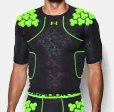 Under Armour Men's Black Gameday Armour Padded Compression Shirt NWT #072