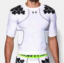 Under Armour Men's White Gameday Armour Padded Compression Shirt NWT #072