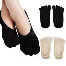 Pair Anti-slip Invisible Socks Low Cut Shallow Mouth No-show Boat Five Toe Socks