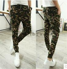 Men's Military Camouflage Camo Casual Pants Joggers Sport Sweatpants Trousers Sz