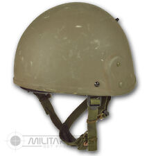 GENUINE BRITISH ARMY ISSUE MK 6 HELMET KEVLAR PROTECTION MILITARY OLIVE GREEN