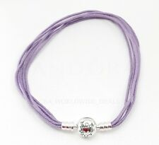 Authentic Pandora Fabric Multristring Lavender Bracelet 590715CLA-M 7.5 / 7.9