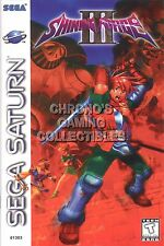 RGC Huge Poster - Shining Force III 3 Sega Saturn BOX ART - SHF003