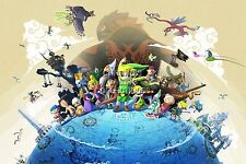 RGC Huge Poster - Legend of Zelda Wind Waker Nintendo GameCube Wii U - ZELW04